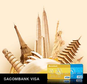 Các loại thẻ tín dụng của Sacombank   Các loại thẻ Visa của Sacombank