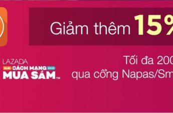 Giảm 15% tối đa 200.000 khi thanh toán bằng thẻ ATM nội địa (Napas)