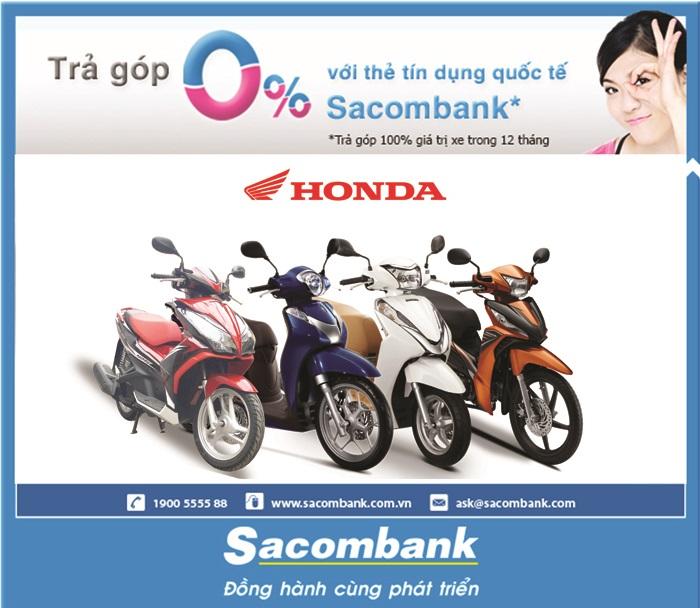 Hướng dẫn mua xe máy trả góp bằng thẻ tín dụng trên Lazada.vn