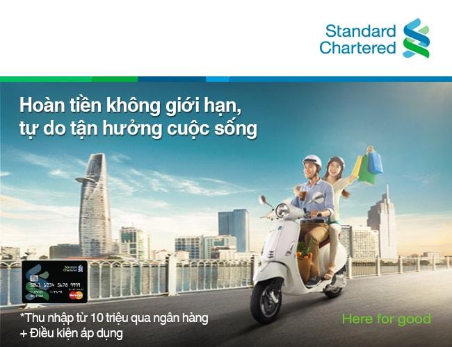 Mở thẻ tín dụng Ngân hàng Standard Chartered