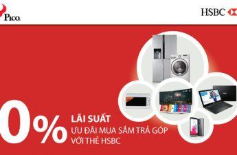 Chương trình mua trả góp lãi suất 0% với thẻ tín dụng HSBC