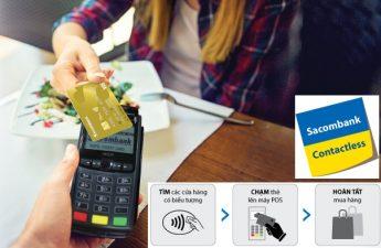 Thẻ Sacombank Contactless – công nghệ thanh toán thẻ không tiếp xúc