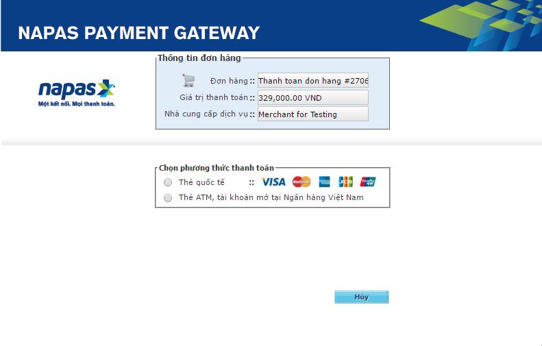 Tích hợp cổng thanh toán Napas vào website bán hàng như thế nào?