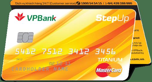 Thẻ tín dụng STEPUP - Hoàn tiền cho mọi giao dịch